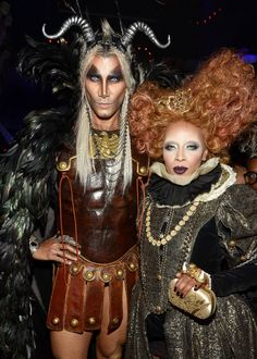 Jay Manuel and June Ambrose attend Heidi Klum's 14th Annual Halloween Party.