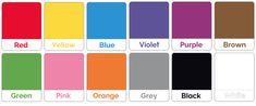 Carte tematiche dei colori in inglese da stampare gratis e ritagliare