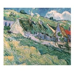 Trademark Fine Art Cottages at AuverssurOise 1890 by Vincent van Gogh Canvas Wall Art 18x24Inch * You can get more details by clicking on the image.Note:It is affiliate link to Amazon.