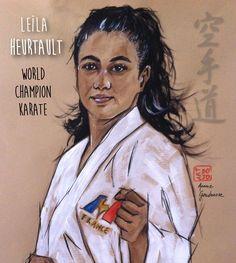 Leila, Portraits, Dojo, Karate, Painting, Painting Art, Paintings, Painted Canvas, Head Shots