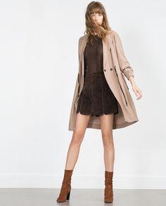 Image 1 of SEAMED MINI SKIRT from Zara
