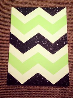My attempt @ DIY Chevron patterned canvas for my dorm!