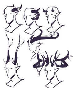 Art reference horns _ art reference poses, art re. Drawing Sketches, Cool Drawings, Demon Drawings, Drawing Tips, Poses References, Drawing Reference Poses, Art Poses, Drawing Base, Character Design Inspiration