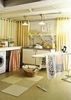 Home Ideas , Tips to Design Laundry Room Cabinet and 35 Inspiring Laundry Room : Basement Laundry Room Makeover Idea