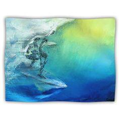 Kess-InHouse-Josh-Serafin-039-September-High-039-Blue-Green-Dog-Blanket-40-by-30in