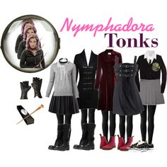 Another cool costume idea! It's between Tonks, Bellatrix and Trelawney. Harry Potter Kostüm, Harry Potter Cosplay, Harry Potter Halloween, Harry Potter Outfits, Casual Cosplay, Cosplay Outfits, Cosplay Ideas, Fandom Fashion, Geek Fashion