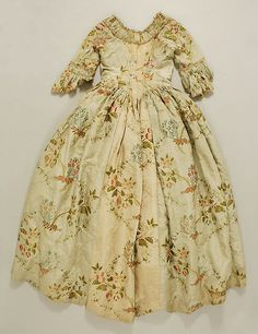 Wedding Dress Date: ca. 1760 Culture: British or French Medium: Silk Accession Number: 40.136.1a, b