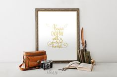 Printable art Gold quote printable Begin each by HeartOfLifeDesign