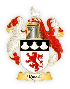 Russell family crest coat of arms england