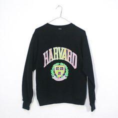 Vintage Champion Long Sleeve Quot Harvard Quot University T Shirt