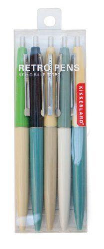 Kikkerland Retro Pens.