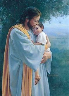 """Jesus with child.how precious.♥ """"In Thy Tender Care"""" by artist. God and Jesus Christ Jesus Art, God Jesus, Images Bible, Image Jesus, Pictures Of Christ, God Pictures, Lds Art, Son Of God, Christian Art"""