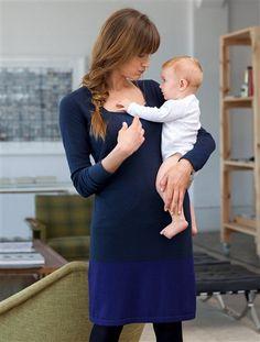 Robe et débardeur grossesse et allaitement MARINE INDIGO - vertbaudet  enfant Allaitement, Robe Été 99448cbc3015