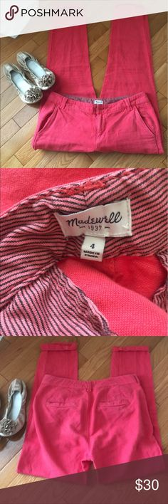 Madewell Coral Pants Super comfy pants, no holes or stains. Madewell Pants Trousers