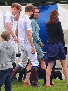 Kate – and Puppy! – Cheer on the Princes at Polo Match