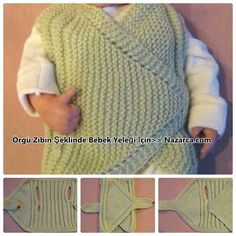 Ziba-shaped organ in-the-baby-vest-model – crochet pattern Baby Knitting Patterns, Crochet Patterns, Baby Pullover, Baby Cardigan, Knitting Videos, Easy Knitting, Baby Gifts To Make, Knit Wrap, Moda Emo