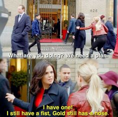 I really wanted to see Regina punch Gold in the face. More
