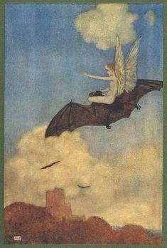 Henry Singleton, Ariel on a Bat's Back (1819)