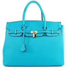 Amazon.com: Designer Inspired Purses Hermes Birkin -Similar Style London Office Tote Large Size in Mustard Teal: Clothing $49.99