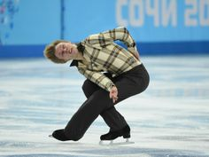 Tomas Verner (CZE) performs in the mens short program figure skating.