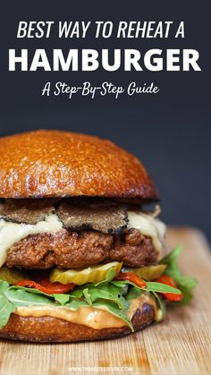 We highlight the best way to reheat a hamburger. Quick step-by-step guide looks at the best options and how to go about reheating your burger properly. #hamburger #cookingtips #burgerhacks #cookinghacks Burger Buns, Step Guide, Cooking Tips, Highlight, Hamburger, Cravings, Fries, Grilling, Oven