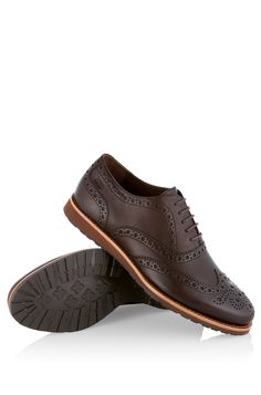 BOSS Zapatos con cordones 'Casero' en piel Marrón oscuro free shipping