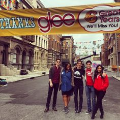 kevinmchale Thank you Paramount for letting me and my friends hang out here for the past 6 years. You can have 5 of your stages back now. #babes I'm gonna miss you so much#Chris Colfer#Kevin McHale#Darren Criss#p: sexpot goddess of rhythm and grace#p: pretty pretty girl light of my world#gleegoodbye#glee