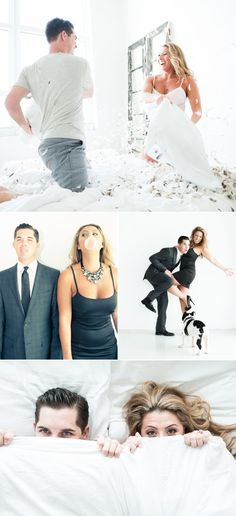 Checkout this playful engagement shoot. Makes me want bubble gum