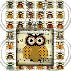 0092 Digital Collage Sheet 1x1 inch squares tiles door liveURpassion