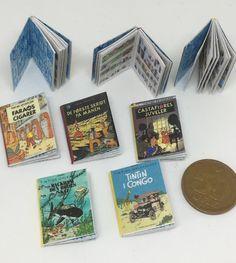 Tintin hæfter 1:12 Congo, Coasters, Miniatures, Diy, Bricolage, Coaster, Do It Yourself, Homemade, Minis