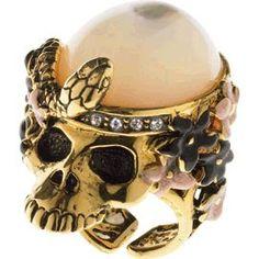 Skull and stone