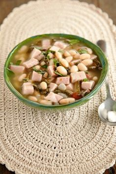 Check out what I found on the Paula Deen Network! Simple Southern Ham and Bean Soup http://www.pauladeen.com/simple-southern-ham-and-bean-soup