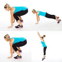 3 out of 5: Burpees. Swiftly moving from standing to squatting to push-up position challenges all your muscles.