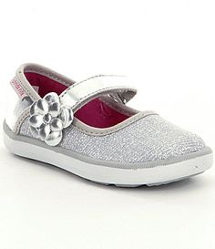 Stride Rite Girls Marleigh Glitter Fabric HookandLoop Mary Janes #Dillards