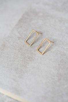 Lovoda - Gold Rectangle Earrings, $12.95 (http://www.lovoda.com/gold-rectangle-earrings/)