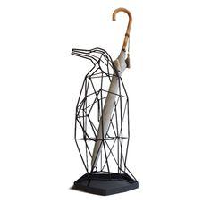 ペンギンの傘立て 一本のワイヤーが描くオブジェのようなインテリア by Shadow Wire