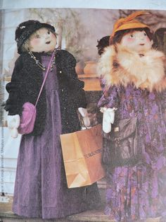 SHOPPER DOLL: Includes in this pattern are instructions and uncut pattern to make approximately 4 tall shopper doll with purchased accessories. McCalls 2827 uncut craft pattern is by Faye Wine. Costume Patterns, Craft Patterns, Cool Patterns, Sewing Patterns, Wine Design, Home Based Business, Cross Stitch Patterns, Doll Clothes, Best Friends