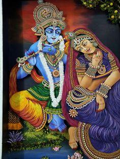 Ornamental quilling radha krishna