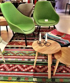 Muna Home kilims and rugs at diseno Istanbul Store Scandinavian Furniture, Scandinavian Style, Kilims, Fabric Decor, Ikat, Istanbul, Dining Chairs, Carpet, Collections