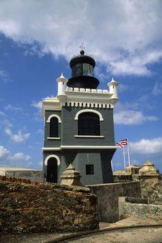Castillo Del Morro Fortress Lighthouse  Old San Juan, Puerto Rico. #ViejoSanJuan #OldSanJuan #PuertoRico
