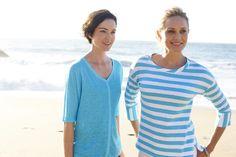 Linen-knit & cotton slubbed tees l #ColdwaterCreek