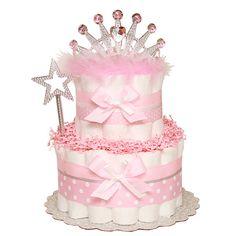 Little Sparkle Princess Diaper Cake -:Diaper Cakes Mall, Unique Baby shower diaper cake