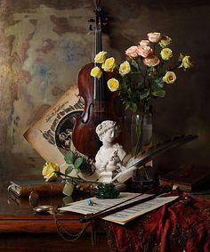 35PHOTO - Андрей Морозов - Натюрморт с бюстом и цветами