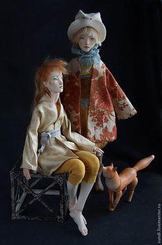 Купить шарнирные куклы Лима и Крис - желтый, флюмо, авторская кукла, художественная кукла