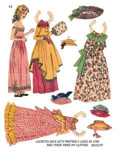 "LUCRETIA 1 June 1947 Lucy Eleanor Leary's ""BOSTON SUNDAY POST"" Newspaper Paper Dolls 1940s & 1950s"