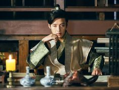 Wook thinking about the conspiracy(? Korean Drama Movies, Korean Actors, Korean Dramas, Kang Ha Neul Moon Lovers, Scarlet Heart Ryeo, Kang Haneul, Handsome Prince, Happy Pills, Kdrama Actors