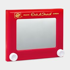 Etch a sketch...what's not to love?  Once my Dad covered the entire surface and we could see the mechanisms.