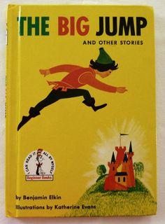 Vintage Children's Book - The Big Jump by Benjamin Elkin - Grolier Book Club Edition Beginner Books, Paper People, Paper Towns, Vintage Children's Books, Great Stories, Childrens Books, Big, Illustration, Prints