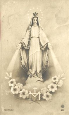La Milagrosa A vintage Spanish holy card of Our Lady of the Miraculous Medal.
