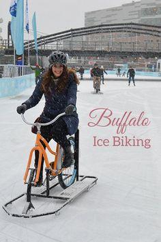 Ice Biking a Canalside (Buffalo, NY)